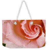 Blush Pink Rose Weekender Tote Bag
