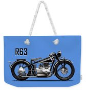 The R63 Motorcycle Weekender Tote Bag