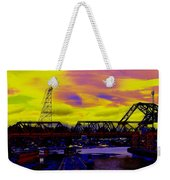 Bnsf Trestle At Salmon Bay Weekender Tote Bag