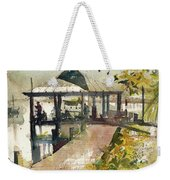 Boardwalk Sarasota Ink And Wash Weekender Tote Bag