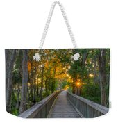 Boardwalk Sunset Weekender Tote Bag