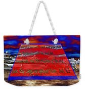 Boat As Art With Text Weekender Tote Bag