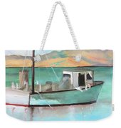 Boat At China Camp State Park Weekender Tote Bag