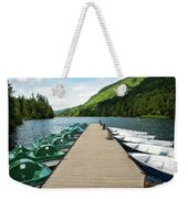 Boat Fun At Silver Lake Weekender Tote Bag