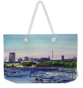 Boat Harbor At Dusk Weekender Tote Bag