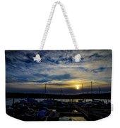 Boat Harbor At Sunset Weekender Tote Bag