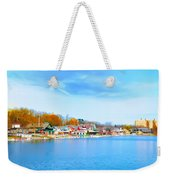 Boat House Row From West River Drive Weekender Tote Bag
