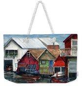 Boat Houses On The Lake Weekender Tote Bag