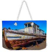Boat In Dry Dock Weekender Tote Bag