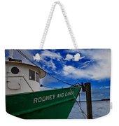 Boat Love In Apalachicola Weekender Tote Bag