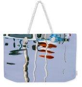 Boat Mast Water Reflection Weekender Tote Bag