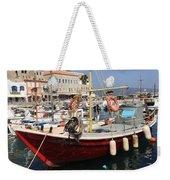 Boat On Hydra Weekender Tote Bag