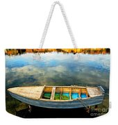 Boat On Lake Weekender Tote Bag