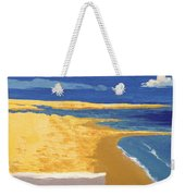 Boat On The Sand Beach Weekender Tote Bag