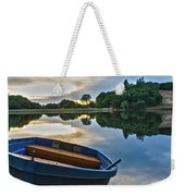 Boat On The Shore Of A Lake  Weekender Tote Bag