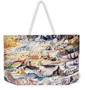 Boat Pilgrimage Weekender Tote Bag