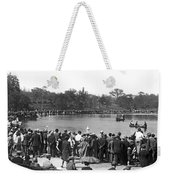 Boat Races In Central Park Weekender Tote Bag