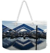 Boat Reflection On Lake Coeur D'alene Weekender Tote Bag