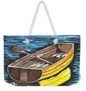 Boat Reflections Weekender Tote Bag