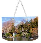 Boat Shed On The Waikato River Weekender Tote Bag
