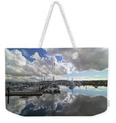 Boat Slips At Anacortes Cap Sante Marina In Washington State Weekender Tote Bag