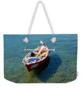 Boat Small Rovinj Croatia Weekender Tote Bag