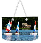 Boat - Striped Sails Weekender Tote Bag