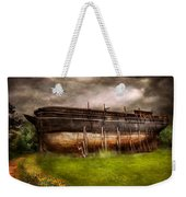 Boat - The Construction Of Noah's Ark Weekender Tote Bag