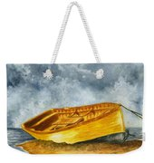 Boat Tied To The Post Weekender Tote Bag
