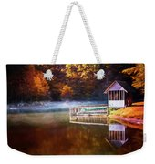 Boathouse In Autumn Oil Painting Weekender Tote Bag