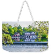 Boathouse Row - Framed In Spring Weekender Tote Bag