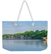 Boathouse Row From Mlk Drive - Philadelphia Weekender Tote Bag