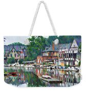 Boathouse Row In Philadelphia Weekender Tote Bag