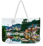 Boathouse Row In Philly Weekender Tote Bag by Bill Cannon