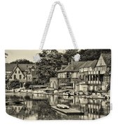 Boathouse Row In Sepia Weekender Tote Bag by Bill Cannon