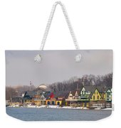 Boathouse Row On A Winter Morning Weekender Tote Bag
