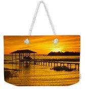 Boathouse Sunset Weekender Tote Bag