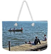 Boating And Sitting On The Dock Weekender Tote Bag