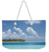 Boating In A Tahitian Lagoon Weekender Tote Bag