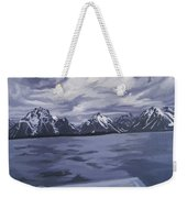 Boating Jenny Lake, Grand Tetons Weekender Tote Bag