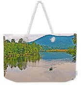 Boating On Connecticut River Between Vermont And New Hampshire Weekender Tote Bag