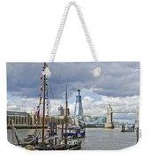 Boats And Shard And Tower Bridge Weekender Tote Bag