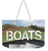 Boats- Art By Linda Woods Weekender Tote Bag