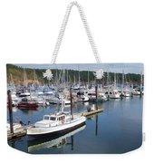 Boats At Friday Harbor Weekender Tote Bag