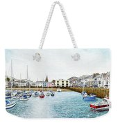 Boats At Ilfracombe Harbour Weekender Tote Bag