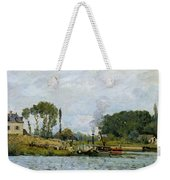 Boats At The Lock At Bougival Weekender Tote Bag