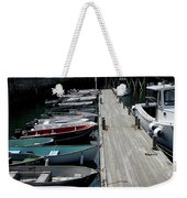 Boats In A Line Weekender Tote Bag