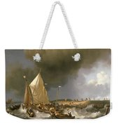 Boats In A Storm  Weekender Tote Bag