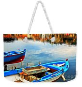 Boats In Autumn Weekender Tote Bag