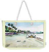 Boats In Beach Weekender Tote Bag